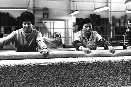 מפעל-כרמל-שטיחים-ופרקט--בשנות-החמישים