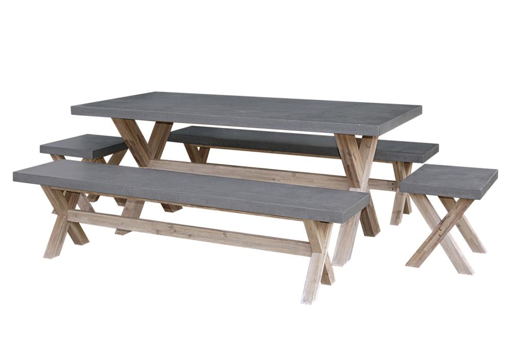 פנטהאוז רהיטים- רהיטי גן מבטון ועץ