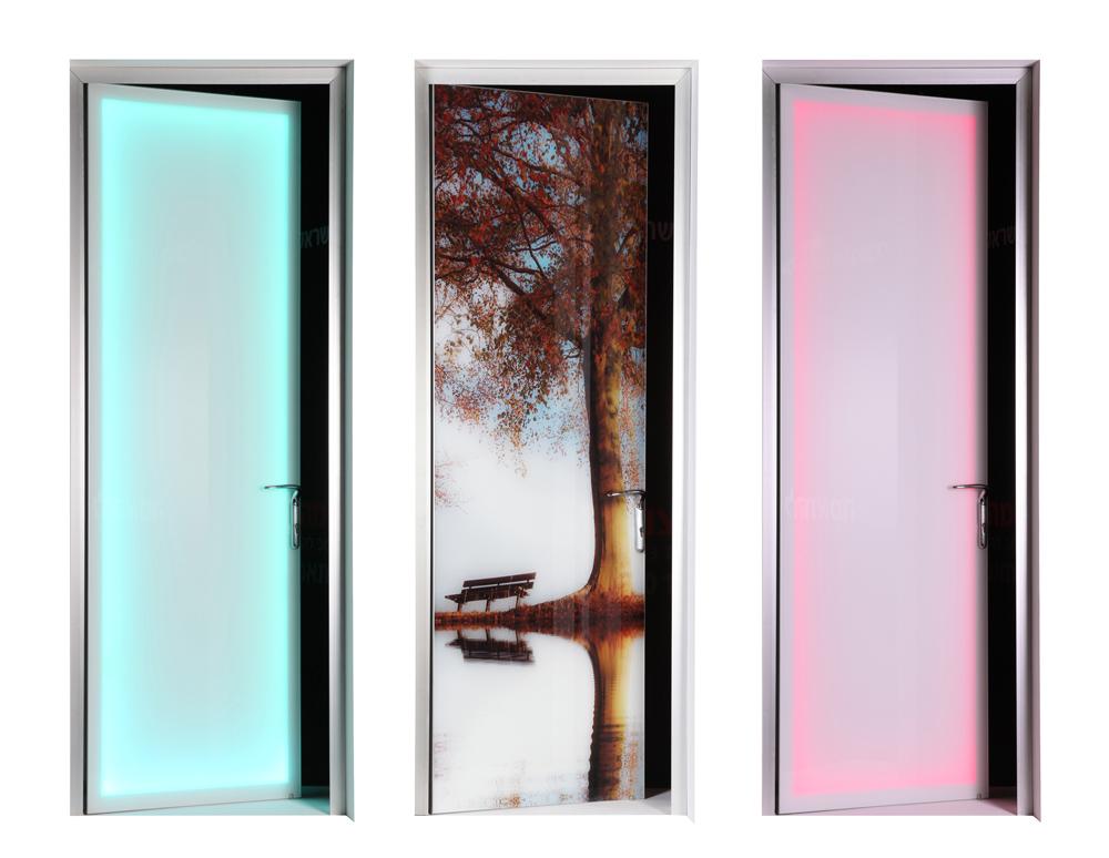 א.א.מראות - דלתות אקוסטיות מודפסות ומאירות